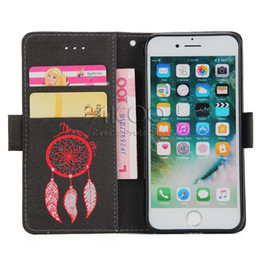 Wholesale Dreams Chinese - For iPhone X 8 7 Plus PU Flip Leather Case Dream Catcher Wallet Stand Leather Case For Huawei P8 Lite 2017 Honor 8 Lite With Opp Bag