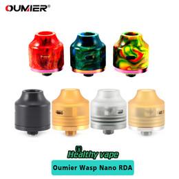 Wholesale Nano Electronics - Original Oumier WASP NANO RDA Mini Tank Electronic Cigarette 22mm Diameter Airflow Control Atomizer With Clear PEI Inner Cap E-cig Vaporizer