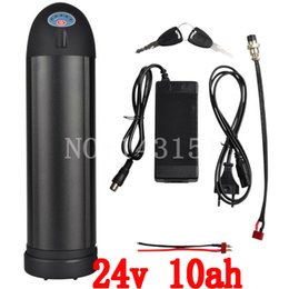 Wholesale E Bike Kit Battery - 24v 10ah lithium kettle water bottle 24v battery kettle for 350w electric bike kit e-bike with charger