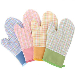 Wholesale Glove Silicon - 1pcs New Heat Resistant Kitchen glove Thick barbecue grilling glove Silicon