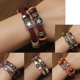 Bracelets de style pandora faits à la main en Ligne-bracelets en cuir à double couche de mode chaînes de couple à la main bracelet à breloques Pandora pour hommes femmes bracelet de style rétro simple