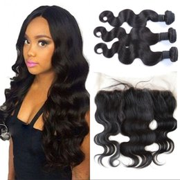 Latest Collection Of Wowigs Hair Burmese Hair Remy Hair Body Wave 3 Bundles Deal With Top Lace Closure 3/4 Bundles With Closure Hair Extensions & Wigs Frontal Natural Color 1b