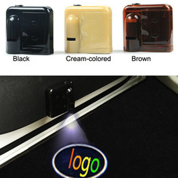 Wholesale Car Door Laser Lights - 1 Set Logo emblem For Citroen Wireless Led Car door Door Projector Laser Light LED Welcome Ghost Shadow Light car styling