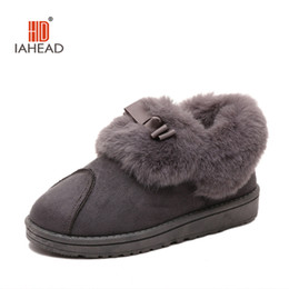 Wholesale Soft Sole Slippers - Wholesale-2016 New Warm Soft Sole Women Indoor Floor Slippers Flannel Home Slippers 2 Color Flock Plush winter women shoes UPB38