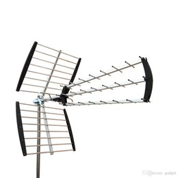Wholesale 180 Mile HDTV Outdoor Amplified HD TV Antenna Digital UHF VHF FM Radio XJ C