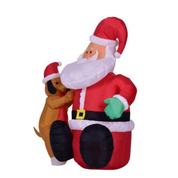 Wholesale Outdoor Inflatables Christmas Decorations - Hot Sale Christmas Decoration Home Garden Outdoor Festive & Party Inflatable 110V   220V Santa Claus & Dog Ornament