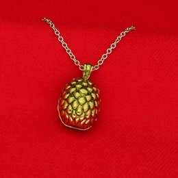 Wholesale Dragon Egg Pendant - Game of Thrones dragon egg necklace Fashion movie A Song of Ice and Fire GAME OF THRONE dragon egg pendant 160520