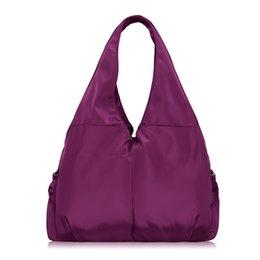 Wholesale Handbag Brand Pink - Wholesale-2016 Women Handbag Casual Large Nylon Shoulder Bag Fashion Big Capacity Famous Brand Design Purple Tote Waterproof bolsas XA287H