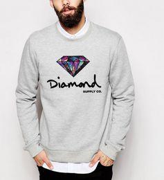 Wholesale Highest Quality Hoodie - Wholesale- men 2016 autumn winter Diamond sweatshirts long sleeve fleece high quality hoodies hip hop o-neck streetwear top tracksuit homme