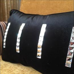 Wholesale Luxury Velvet Bedding - New Handmade Fur strip diamond Cushion Cover cushion cover Blink luxury beauty home room bed car sofa Dec wholesale FG687