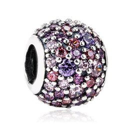 Wholesale Bangle Bracelets Jewelry Mix - Authentic 925 Sterling Silver Bead Charm Pave Ball With Mixed Shades Crystal Beads Fit Women Pandora Bracelet Bangle Jewelry HKA3278