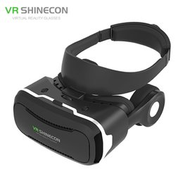 "Wholesale Newest 3d Movies - Wholesale- Newest VR Shinecon IV 4.0 Virtual Reality 3D Movie Glasses Helmet Vrbox with Headphone Mic for 4.0-5.5"" Smartphone PK BOBOVR Z4"