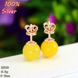 Wholesale Earring Tray Diy - 100% 925 Sterling-Silver-Jewelry Stud Earrings for women Blank with Fit 6-9mm Rose Gold Base Tray for Diy Jewelry Earrings