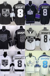 Wholesale Drawings Embroidery - Hot Sale Mens Los Angeles Kings 8 Drew Doughty Best Quality Cheap Full Embroidery Logos Ice Hockey Jerseys Accept Mix Order