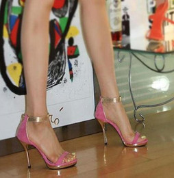 Wholesale Micro Stage - Free Shipping2017 Korean stage show style Vogue office lady flock Shoes Women high heeled Sandals Female Sexy Summer Heels Zapatos Mujer 9cm