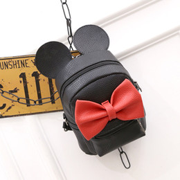 Wholesale Cute Bow Bags For School - 2017 Fashion new Women Backpack Designers Brand for Teenage High Quality PU leather school backpack Cute Bow Girl bag
