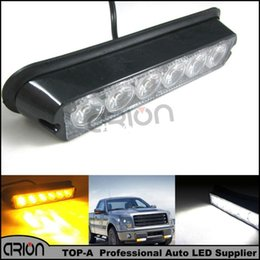 Wholesale Truck Light Green Strobe - Hot Sale 6 LED 6W Car Truck Emergency Hazard Strobe Warning Flash Grille Lights Lamp Recovery Light Yellow Amber White12-24V