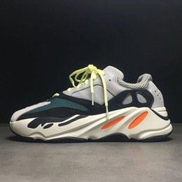 Wholesale Running Gifts - Christmas gift Kanye West Wave Runner 700 Running Shoes White-Core Black Authentic Boost 700 Casual Sports Sneakers size 36-46 xz60