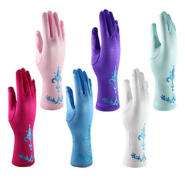 Wholesale Bling Gloves - Hot Sell Bling Powder Girls Frozen Gloves Child Kids Girl Gloves Cosplay Fantasia Elsa Anna Accessories Princess Party Costume Q0669
