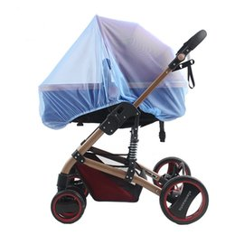 Wholesale Bugs Insects Kids - Wholesale-Kids Stroller Mosquito Net Pram Protector Baby Carriage Pushchair Fly Insect Bug Cover Baby Stroller Bed Mesh Crib Netting L835