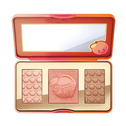 Wholesale Sweet Wholesalers - Sweet Peach Glow Highlighter Blush Palette Makeup Sweet peach Glow Powder Long-lasting Makeup Face Blusher 3 Color 2802032