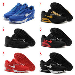 Wholesale Top Cheap Sneakers - [With Box]2016 Hot Sale Air 90 Men Running Shoes Top Quality New Classical Cheap Sneakers Cushion 90 Sports Shoes US7-12