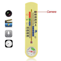 Wholesale Spy Thermometer Dvr - Thermometer Hidden Spy Camera 8GB thermometer pinhole Cameras Audio Video Recorder DVR Camcorder with Motion detection for Home Security