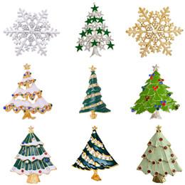 All'ingrosso-MZC economici argento oro Natale fiocco di neve spilla smalto colorato broches regalo gioielli decorativi spille alla moda spille da