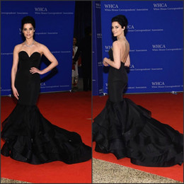 Wholesale Sweetheart Mermaid Taffeta - Taffeta Celebrity Dresses 2017 Jaimie Alexander Inspired Formal Evening Dress with Tiered Train and Sweetheart Neck Mermaid Red Carpet Gowns
