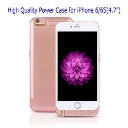 Wholesale Iphone Mobile Power Case - External Cellphone Power Case Portable Mobile Power Case Phone Power Bank for iPhone 6 6S Plus Factory Wholesale in stocks