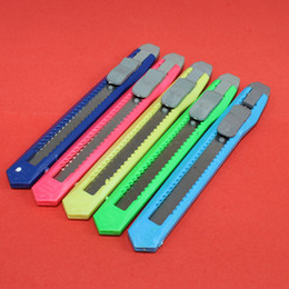 Wholesale Mini Utility Knives - Wholesale- CK mini utility knife, practical retractable cutter, steel blade, plastic handle office and school stationery TL-109
