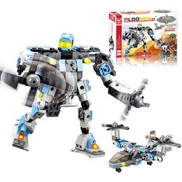 Wholesale Enlighten Aircraft - Wholesale- J508 Enlighten Child Educational toys Aircraft Robot 2In1 DIY 245pcs Jigsaw Building Block Sets Brinquedos Kids Gift
