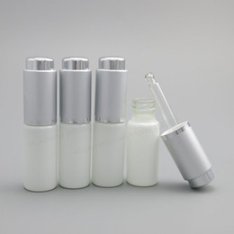 Wholesale Glass Bottle Press Dropper - 24 x 10ML White Glass Bottle With Aluminum Dropper,1 3oz Glass Essence Press Dropper Bottle