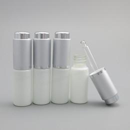 Wholesale Glass Bottle Press Dropper - 24 x 10ML White Glass Bottle With Aluminum Dropper,1 3oz Glass Essence Press Dropper Bottle