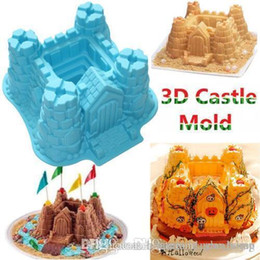 Wholesale Castle Mold - Nice 3D Silicone Castle Cake Mold Chocolate Muffin Jelly Ice Tray Kitchen Mold Kit Baking Tool Cooking Tools