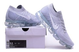 Wholesale Women Platinum - Men Vapormaxes 2018 Platinum Tennis sneaker Plyknit Sports and casual shoes for Women Vapor MaXES trainer size 40-45