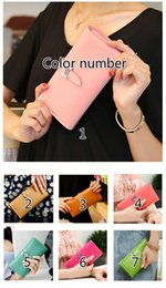 Wholesale Cream Bow Belt - 2017 new ladies wallet Korean version of the tide with large capacity fashion multi-card wallet female long wallet 170625