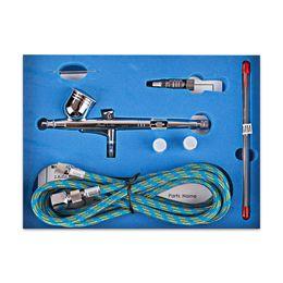 Wholesale Dual Action Airbrushes - SP130KTG Gravity Feed Dual Action Trigger Airbrush Kit 0.2mm 0.3mm 0.5mm Needle Spray Gun Art Painting Air-Paint Control