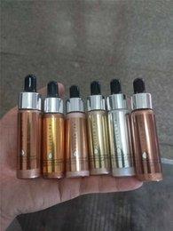 Wholesale Wholesale Glow Dark Powder - Brand Cover FX Custom Enhancer Drops Face Highlighter Powder Makeup Glow 6 color 15ml liquid Highlighters set