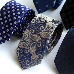 Wholesale Narrow Silk Ties - Men's ties, narrow, new upgrades, polyester silk tie, personalized custom, 6CM factory direct sales