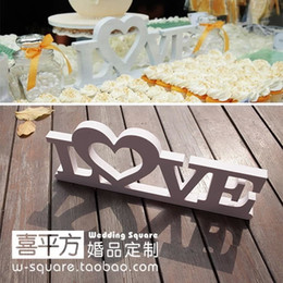 Wholesale Photographic Props - Wedding Big Size Love Photographic Background Stereo White Love Letters Wedding Party Props 30*12Cm Home Decor Accessory