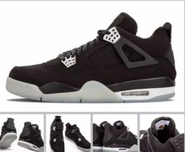 Wholesale Red Denims - 2017 Cheap Retro 4 IV Eminem Basketball Shoes For Men Black Denim Undefeated Encore Blue Olive Green Mens Version Wholesale 41-47