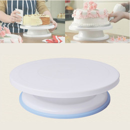 Wholesale Turntable Cake Display Stand - 11inch 28cm Cake Making Turntable Rotating Decorating Round Platform Stand Display Revolving Baking Tool Free Shipping