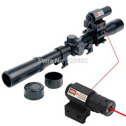 2019 airsoft gun red dot 4x20 Luftgewehr Optik Zielfernrohr Teleskop Red Dot Laser Anblick 20mm Montieren Für 22 Kaliber Gewehre Airsoft Guns Kostenloser Versand rabatt airsoft gun red dot