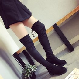 Wholesale Short Suede Flat Boots - Fashion Women Winter Abkle Boots, Over Knee Suede Long Boots and Short Boots Double Use Design