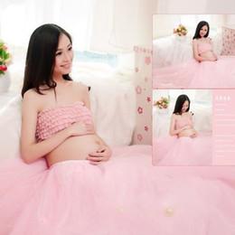 Wholesale Portrait Props - Lace Maternity Photography Props Clothes Pregnancy Gown Set Dresses For Pregnant Women Clothing Photo Portrait Hot Sale