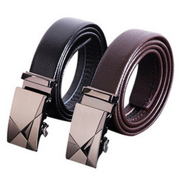 Wholesale Wholesale Polyester Resin - Leather men's automatic buckle belts wholesale business belt leather belt automatic agio belt manufacturer