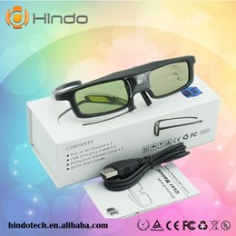 Wholesale Optoma 3d For Glasses - Wholesale- CX30 3D Active Shutter Glasses For Optoma for LG for Acer DLP-LINK DLP Link Projectors 3D