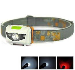 Wholesale Cree R3 Flashlight - Mini Portable Headlamp 600LM Headlight Cree R3 Headlamps 2 LED Flashlight Headlights Torch Lanterna With Headband Hiking Camping