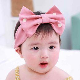 Wholesale Korean Princess Photo - Korean Style Cute Princess Big Bow Girls Headband Polka Dots Baby Hair Accessory Fashion Newborn Photo Prop Hot Sales